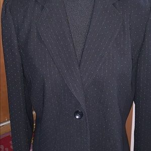 Focus 2000 black blazer with silver speckles